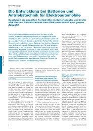 Die Entwicklung bei Batterien und Antriebstechnik ... - Park & Charge