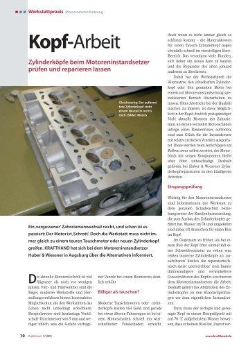 Zylinderkopf-Instandsetzung vom Profi - VMI