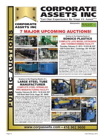 February Auctions - Used CNC Machines