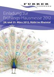 Flyer zur Hausmesse als PDF - Furrer Vorhaenge