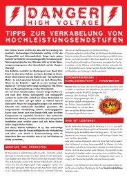 tipps zur verkabelung von hochleistungsendstufen high voltage