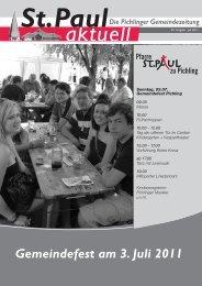 Ausgabe 49 / Juni 2011 - St. Paul zu Pichling
