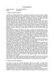 Janina Kalk 1. allgemeiner Erfahrungsbericht - Universität zu Lübeck