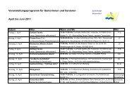Veranstaltungsprogramm für Seniorinnen und Senioren April bis ...
