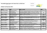 Veranstaltungsprogramm für Seniorinnen und Senioren Oktober bis ...