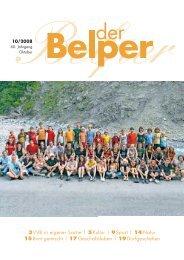 3VVB in eigener Sache | 5Kultur | 9Sport | 14 Natur 15 ... - Der Belper