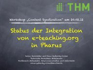 Agiles Software- und Systems-Engineering - E-Teaching