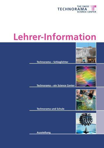 Lehrer-Information - Technorama