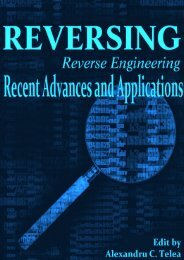 Reverse Engineering – Recent Advances and Applications