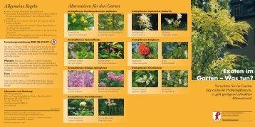 Exoten im Garten – Was tun? Allgemeine Regeln