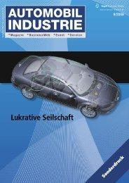 Nachdruck Automobil Industrie 09-2009 - Lukrative Seilschaft
