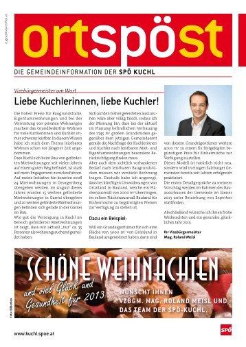 und viel Glück und Gesundheit für 2013 - SPÖ Kuchl
