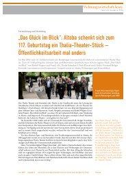 """""""Das Glück im Blick"""": Altoba schenkt sich zum 117. Geburtstag ein ..."""