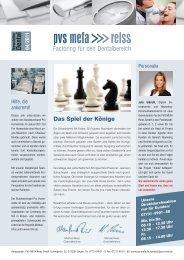newsletter Dental PVS MEFA Reiss GmbH Ausgabe 04 2011