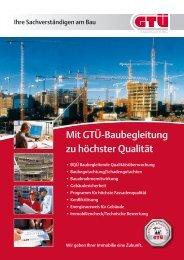 Broschüre: Mit GTÜ-Baubegleitung zu höchster Qualität
