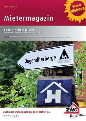 Mietermagazin - Zwickauer Wohnungsbaugenossenschaft eG