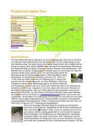 Prebischtor kleine Tour - Wandern in der Sächsische Schweiz