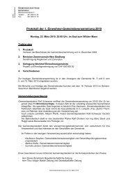 Protokoll der 1. Einwohner-Gemeindeversammlung 2010