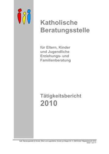 tätigkeitsbericht 2010 A4 vorlage für pdf - Köln-Vernetzt