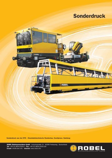 Sonderdruck - Robel Bahnbaumaschinen GmbH