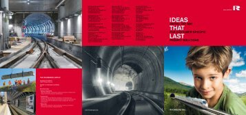 IDEAS THAT LAST - Rhomberg Rail