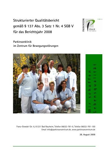 strukturierter Qualitätsbericht von 2008 - Kliniken.de