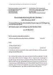 Zusatzvereinbarung über die materiellen Anpassungen und ...