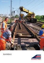 Imagebroschüre EICHHOLZ Gruppe - Strabag Rail
