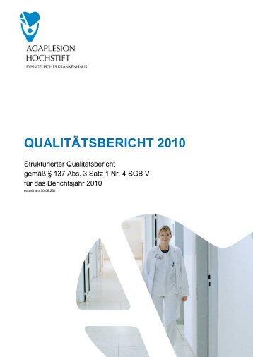 Qualitätsberichtes 2010 - Kliniken.de