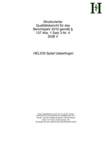 strukturierter Qualitätsbericht von 2010 - Kliniken.de