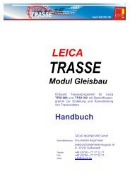 Modul Gleisbau Handbuch - GEOiD