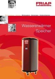 Wassererwärmer Speicher - Friap AG