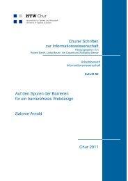 Churer Schriften zur Informationswissenschaft Auf den ... - HTW Chur