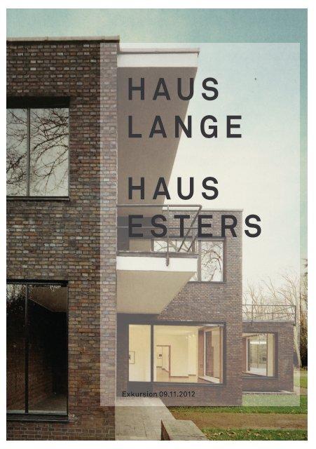 HAUS LANGE HAUS ESTERS - TU Dortmund