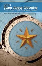 2010 Texas Airport Directory - Welcome to the Texas Department of ...