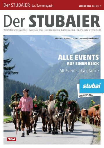 Alle eventS - Stubai