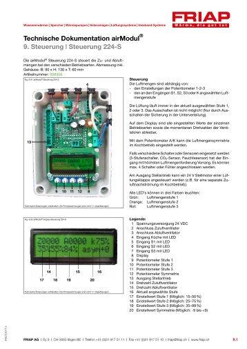 Technische Dokumentation airModul 9. Steuerung ... - Friap AG