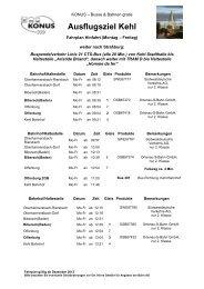 Fahrplan Kehl/Straßburg - Oberharmersbach