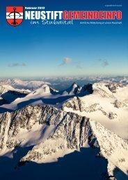 Ausgabe 22 - Februar 2012 - Neustift im Stubaital - Land Tirol