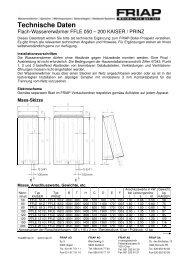 Technische Daten - Friap AG