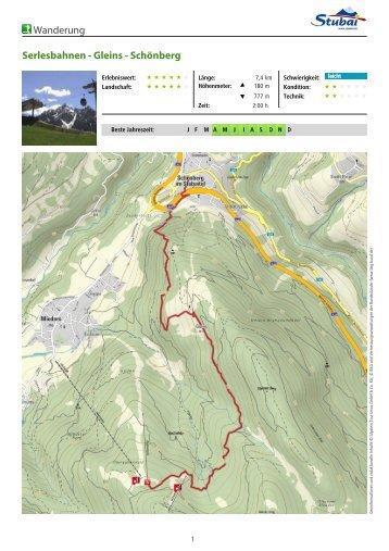 Wanderung Serlesbahnen - Gleins - Schönberg - Tirol