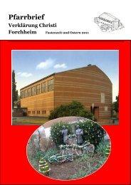 Pfarrbrief Fastenzeit 2011 - Erzbistum Bamberg