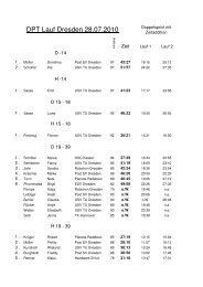 7. Lauf zur Dresdner Sprint-OL-Serie 2010 - Deutsche Park Tour