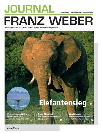 und Delphinmassaker in Japan, Norwegen ... - Fondation Franz Weber