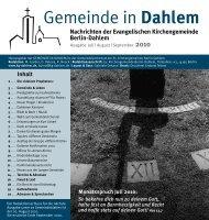 Juli | August | September 2010 - Evangelischen Kirchengemeinde ...