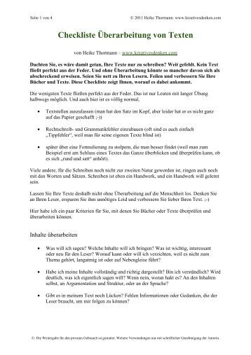 Checkliste Briefe Schreiben : Checkliste newsletter schreiben kreativesdenken
