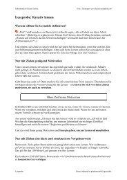 Leseprobe Kreativ lernen - Kreativesdenken.com