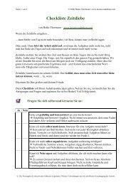 Checkliste Zeitdiebe - Kreativesdenken.com