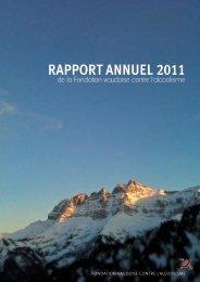 Fondation vaudoise contre l'alcoolisme (FVA) - Rapport annuel 2011