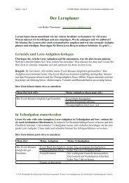 Der Lernplaner - Kreativesdenken.com